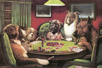 How this hand played out: http://www.dogsplayingpoker.org/gallery/coolidge/waterloo.html