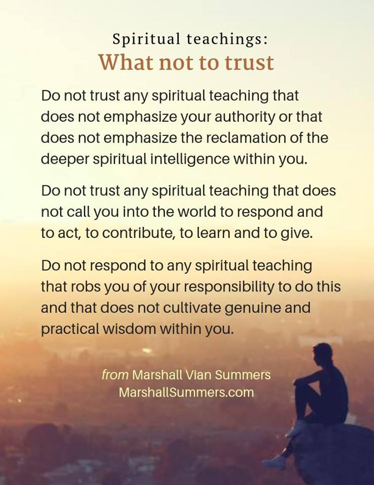 spiritual truths: what not to trust